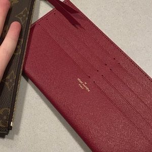 Red new!!! Louis Vuitton card holder